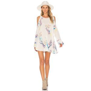 Free People Clear Skies Printed Tunic Oversized XS